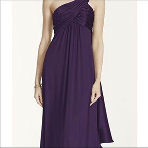 David's Bridal Size 6 One Shoulder Jersey Dress
